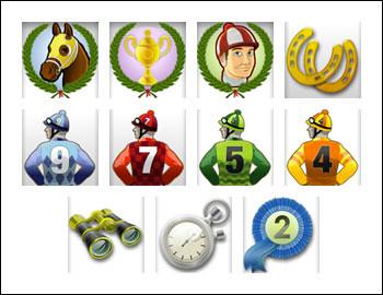 free Champion of the Track slot game symbols
