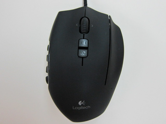 Logitech G600 MMO Gaming Mouse - Top View