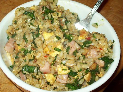 Spinach Fried Rice II