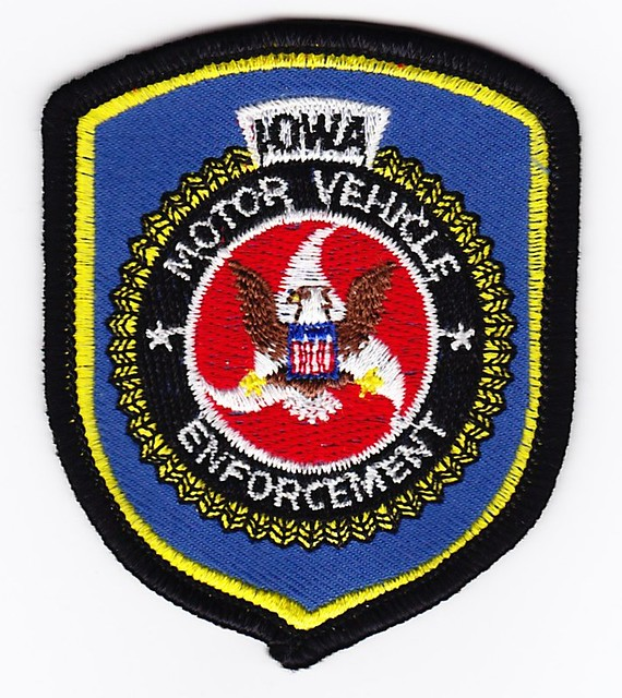 Ia motor vehicle enforcement mini patch patch for for Iowa motor vehicle laws