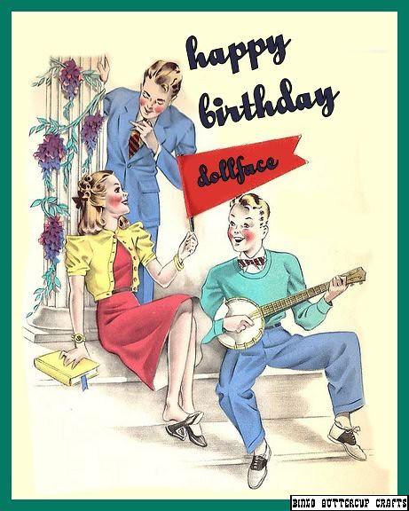 Dollface- birthday card
