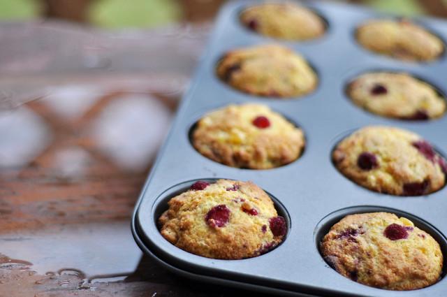raspberry corncakes