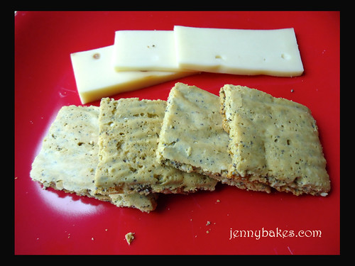 Three Seed Chickpea Crackers