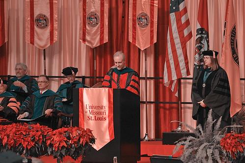 UMSL graduation - preserved red color
