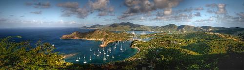panorama antigua caribbean shirleyheights englishharbour