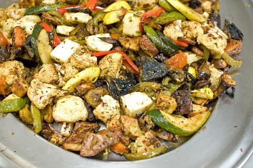 Roasted Veggies and Homemade Paneer