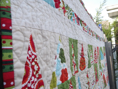 Christmas in July lap quilt