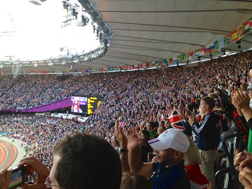 Mo Farah's gold medal ceremony