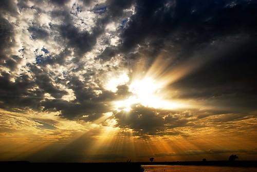 africa sunset sun clouds nigeria rays sunrays