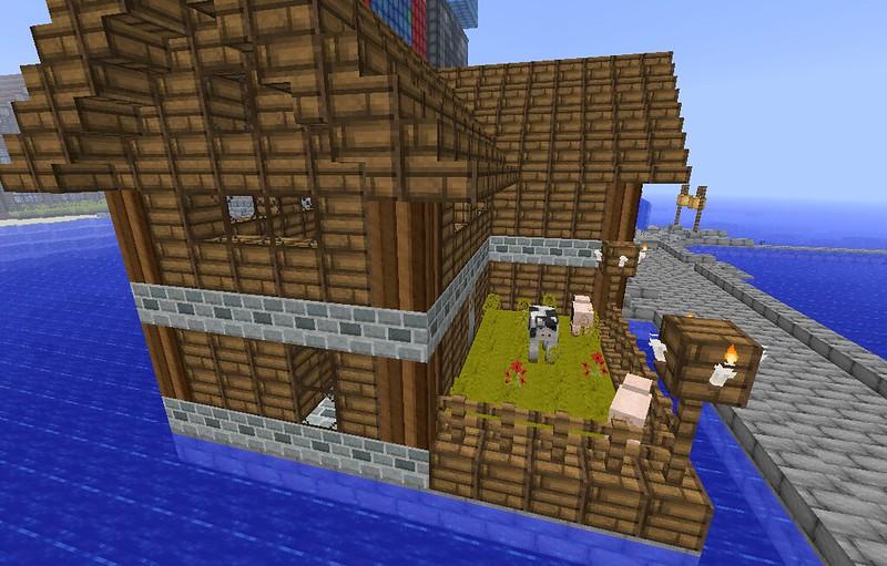 minecraft how to build a village butcher shop