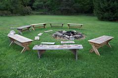bench, furniture, garden, grass, table, yard, lawn,