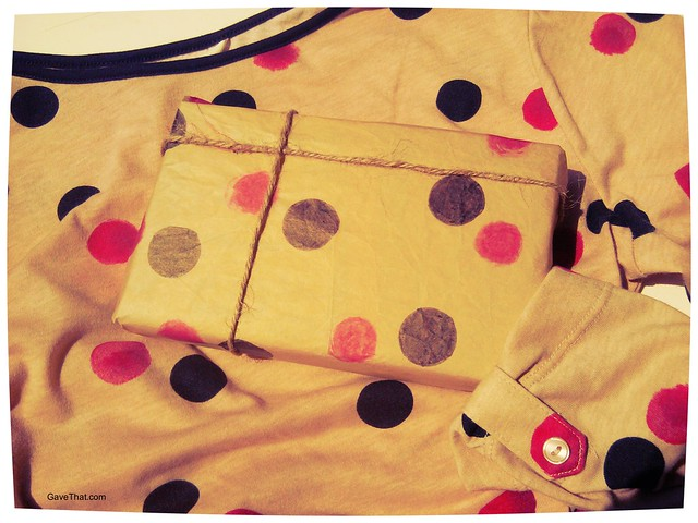 DIY Watercolor Ink Polka Dot Wrapping Paper Inspired by This Top