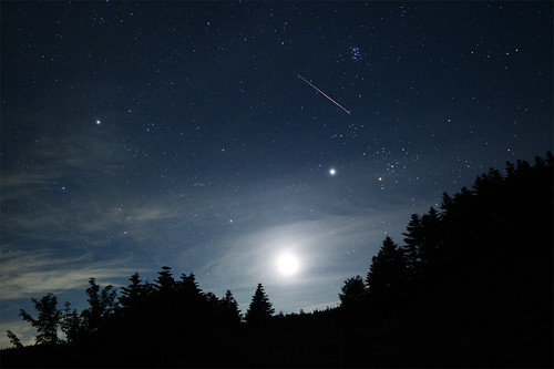 The moon, Jupiter, and Perseids 2012