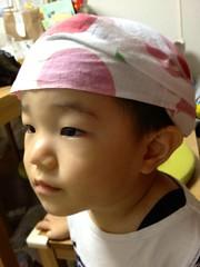 手ぬぐいかぶる (2012/8/23)