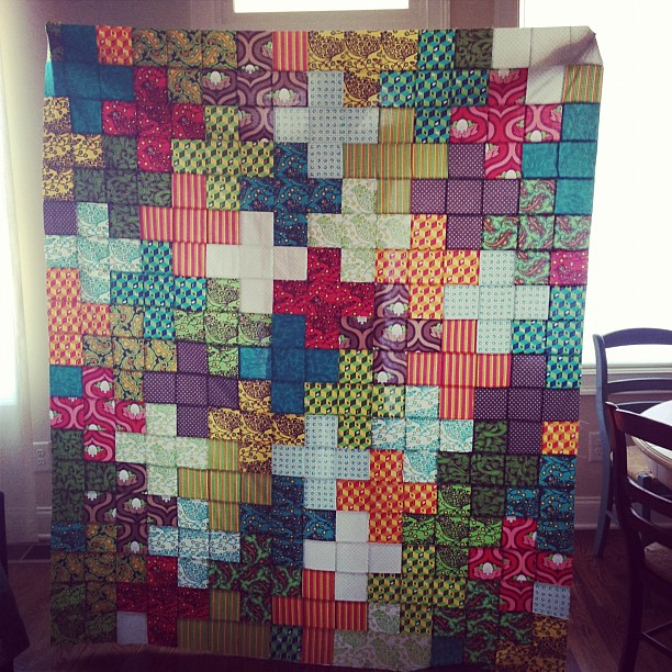 Quilt top for my mom complete!!!