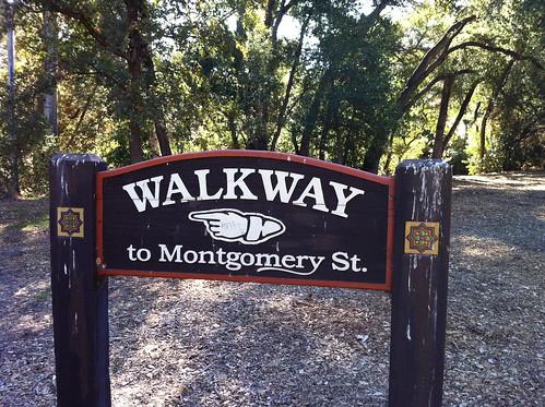 walkway to the bakery
