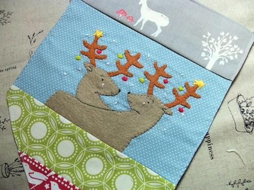 WIP: Christmas Bunting Reindeer flag