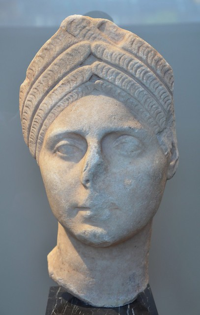 Trajanic portrait of a Roman woman, Neues Museum, Berlin