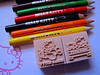 Hello Kitty colouring pencils and stampers
