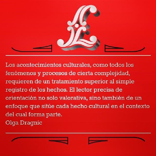 sobre el #periodismo cultural, tan maltratado, habla la periodista Olga Dragnic