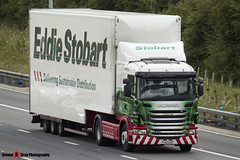 Scania G400 4x2 Tractor with 3 Axle Box Trailer - PJ12 GXP - Cynthia May - Eddie Stobart - M1 J10 Luton - Steven Gray - IMG_6870