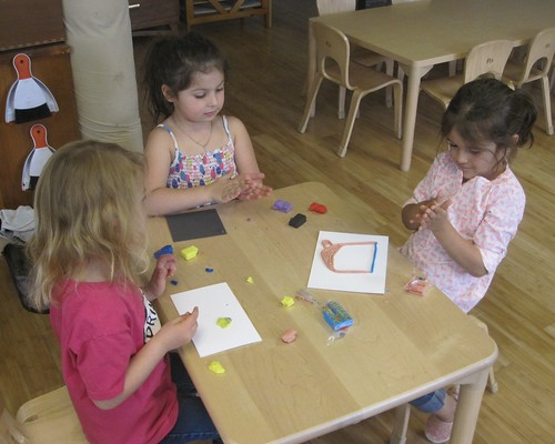 creating clay pictures