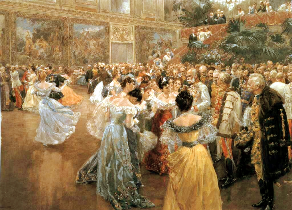 Court Ball in Vienna by Wilhelm Gause, 1900