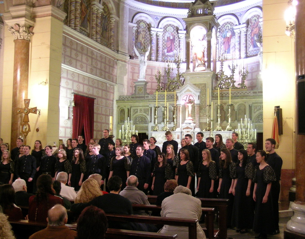 Heinz Chapel Choir performs in the Basilica del Sagrado Corazon de Jesus in La Plata, Argentina