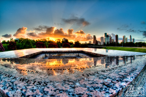 sunrise nikon memorial texas houston places hdr 2011 photomatix d5000 policeofficersmemorial nikond5000