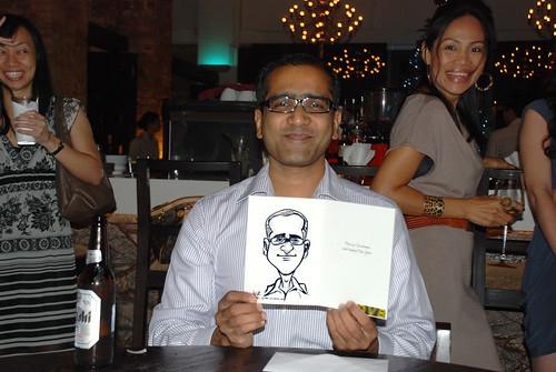 caricature live sketching for DVB Christmas party - 5