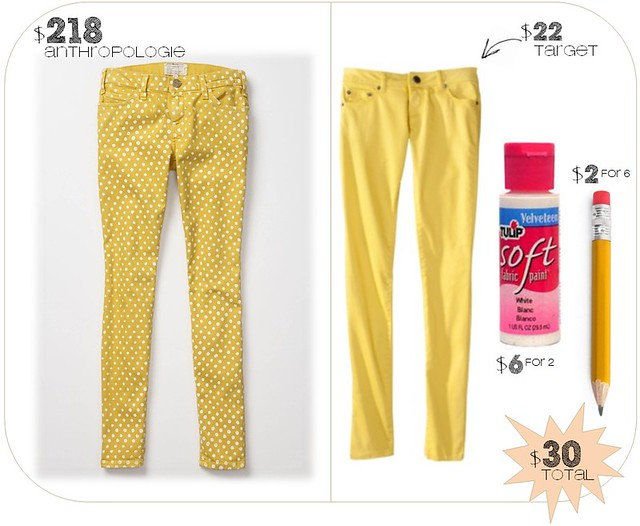 DIY - polka dot pants