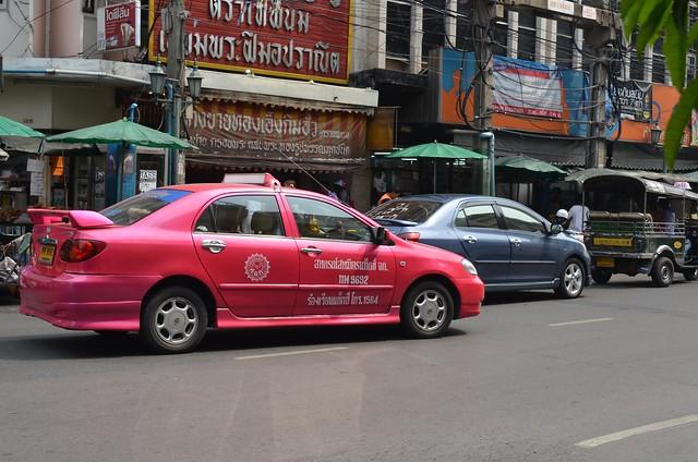 考山路 Khao San Road -Pink Taxi