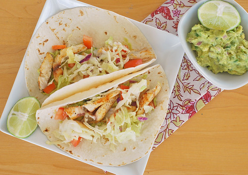 Fish tacos with guacamole and cabbage slaw fake ginger for Fish tacos cabbage