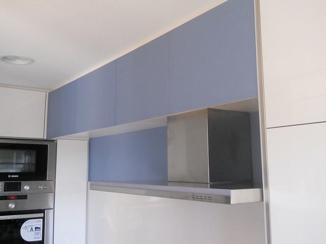 armario para cocina de cristal encimera