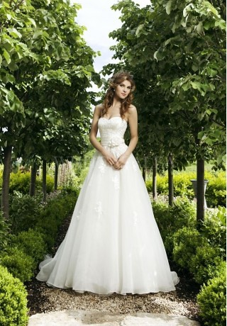 Organza Strapless Sweetheart Wedding Dress