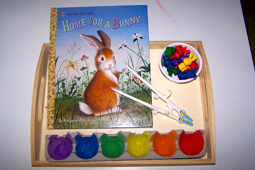 Finding a Home for A Bunny Color Sort (Photo from The Princess and the Tot)