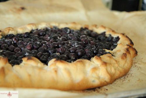 blueberry crostata