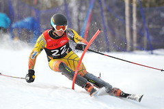 Phil Brown in action during the Canadian Championships slalom in Mont-Sainte-Anne, Que.
