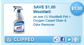 Woolite Pet Oxygen Stain Remover Coupon