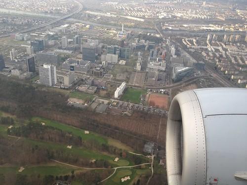 Anflug Frankfurt