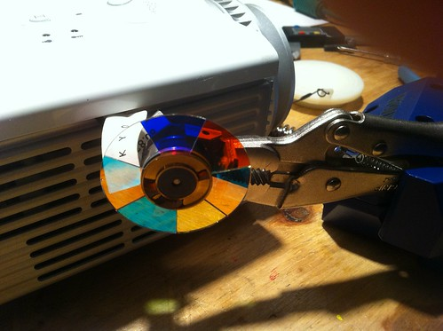 Color wheel mounting