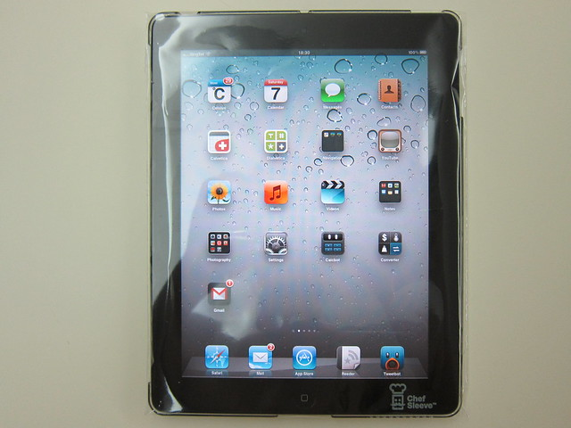 Chef Sleeve - With iPad (Front)