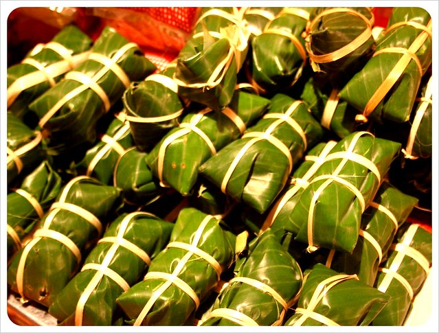 luang prabang night market pork parcels