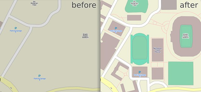 University of Central Florida's Athletic Facilities in OpenStreetMap