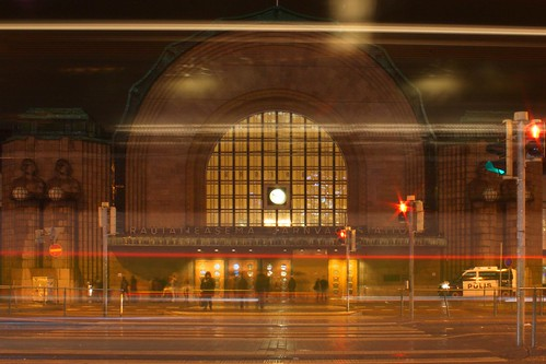 Helsinki, Railway Station Night, Finland