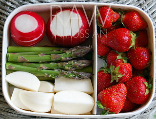 Red, white and green bento
