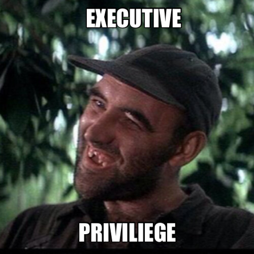 Executive Privilege Term: THe WaR On DouCHe BaGS...