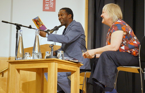 Lemn Sissay reading from his work to Jane Davis of The Reader by Read Me Something You Love