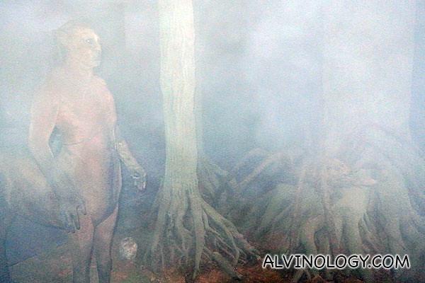 The misty Forbidden Forest