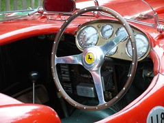 118 1953 Ferrari 375 MM red cockpit